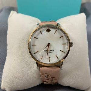 Kate Spade Vachetta Leather Metro Floral Watch